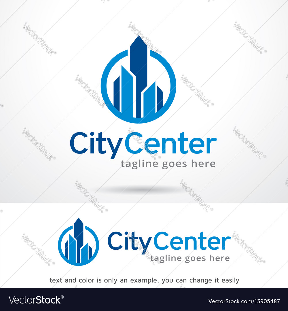 City center logo template design vector image