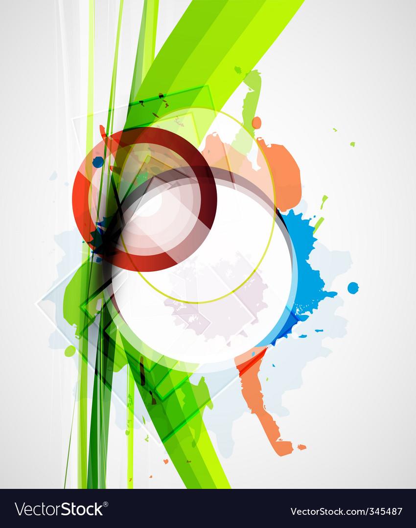 Elements background vector image