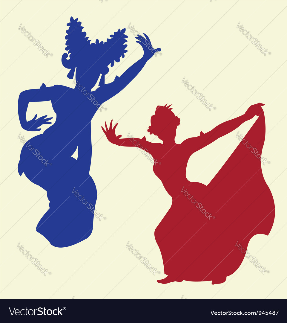 Traditional dance 1 vector image
