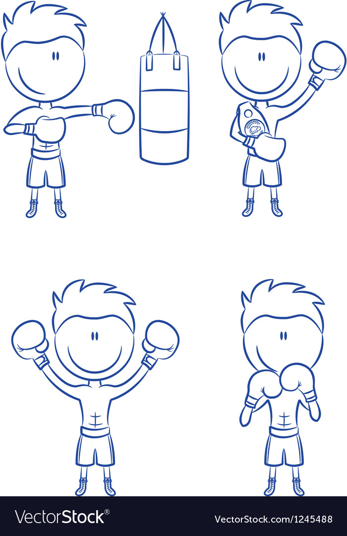 Boxer vector image