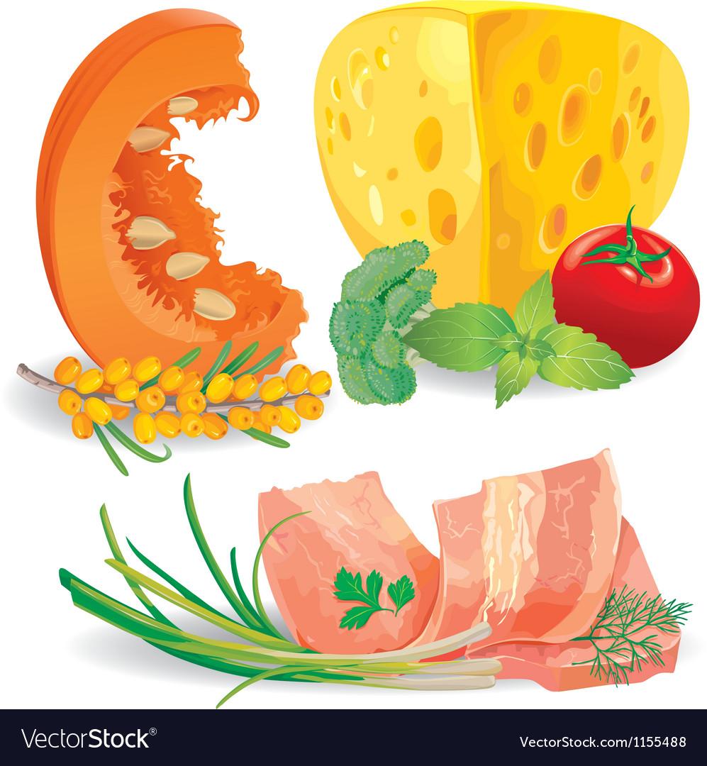 Set of food vector image
