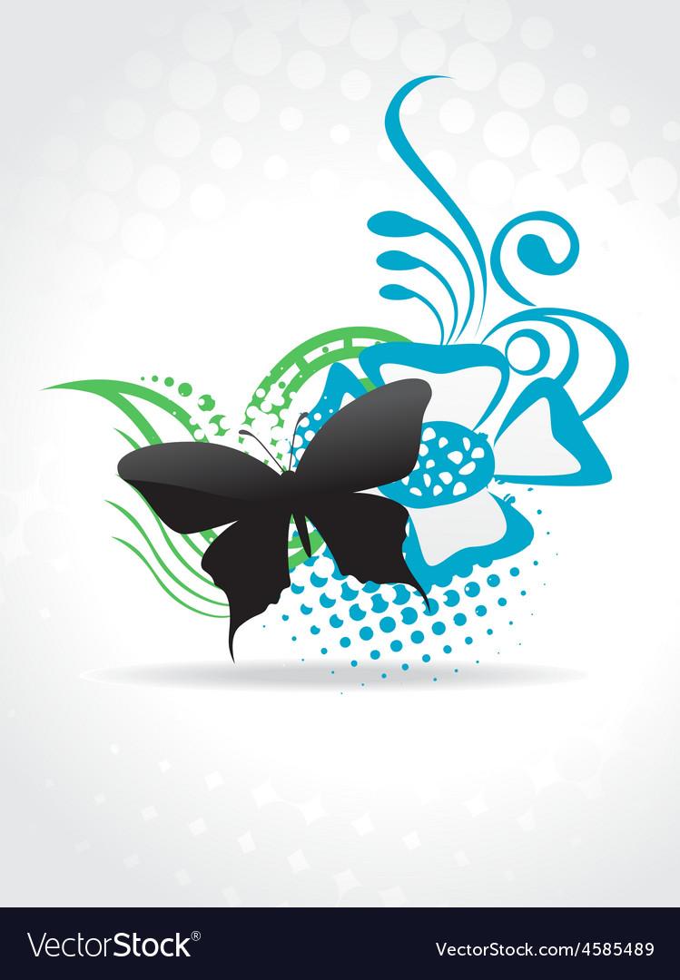 Beautiful butterfle art vector image