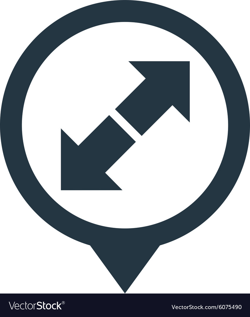Arrow sign pointer movement direction vector image
