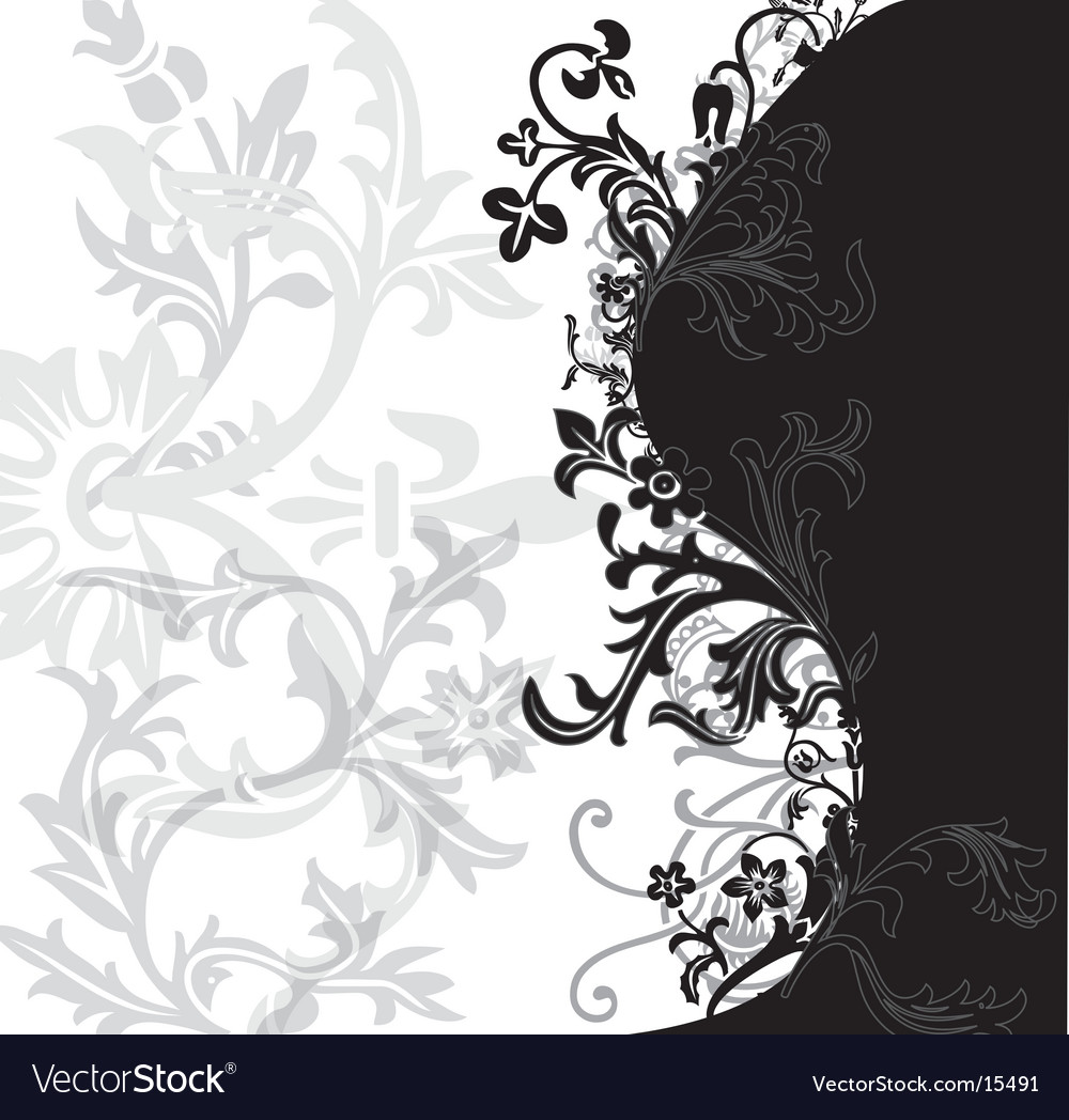 Flowery background vector image