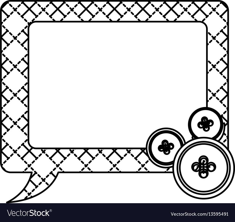 Sticker figures square chat bubbles icon vector image