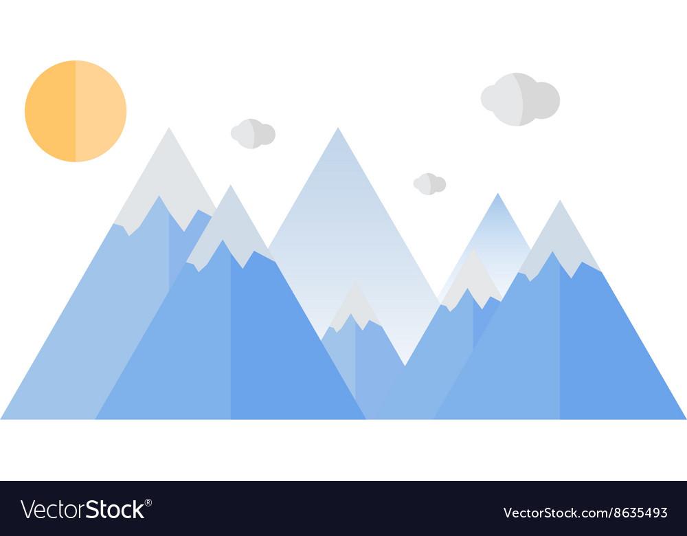 Geometrical mountain Travel design vector image