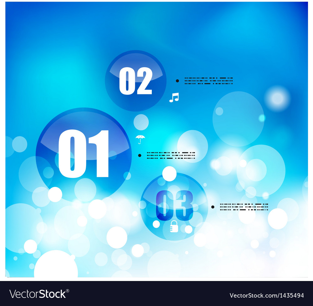 Nature blue sky infographic template vector image