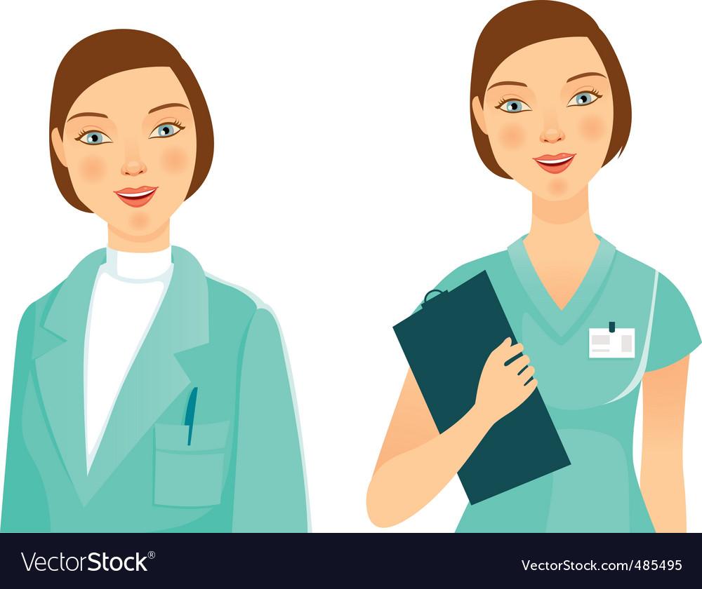 Medicine woman vector image