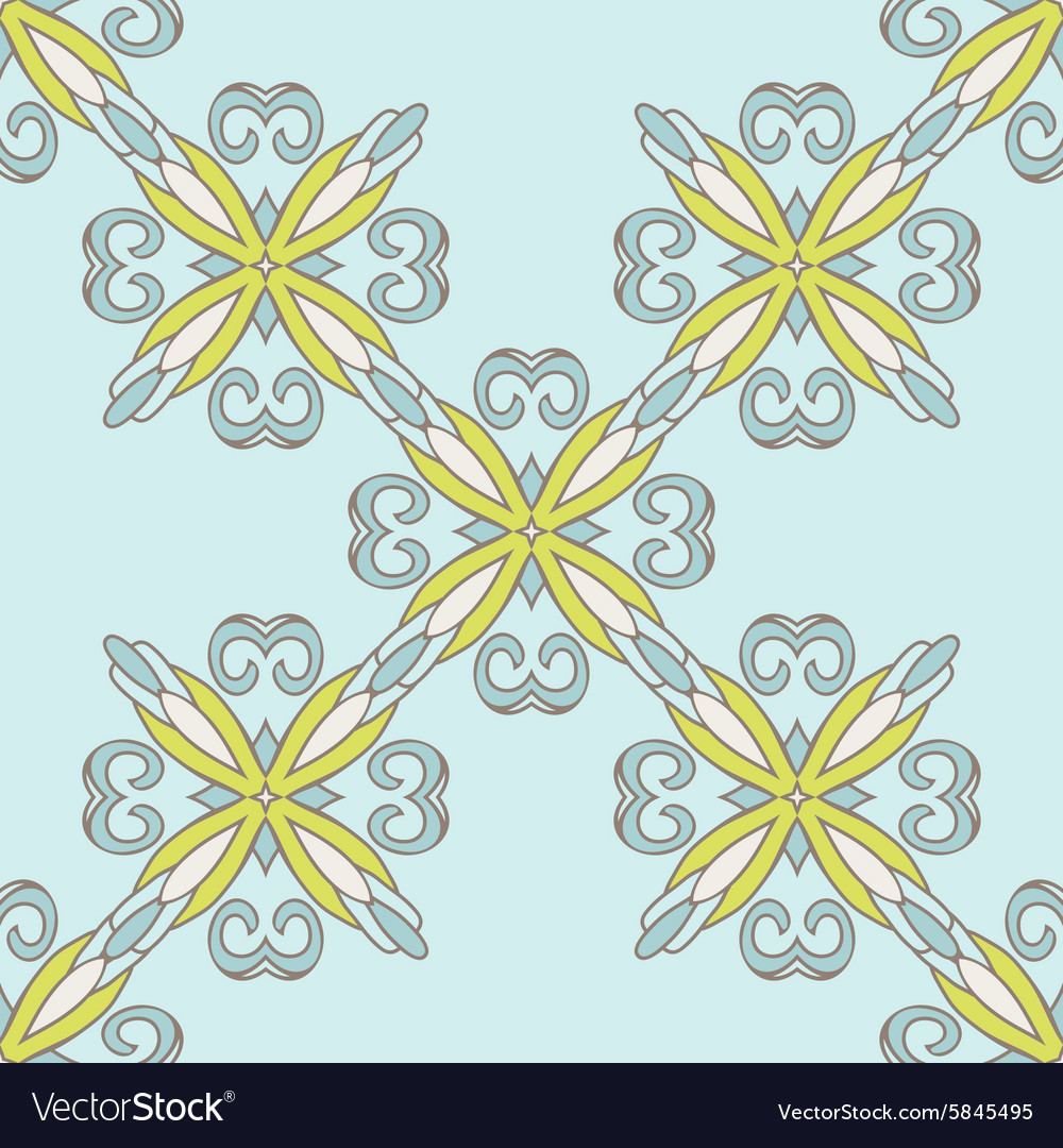 Seamless tiled pattern classical damask vector image