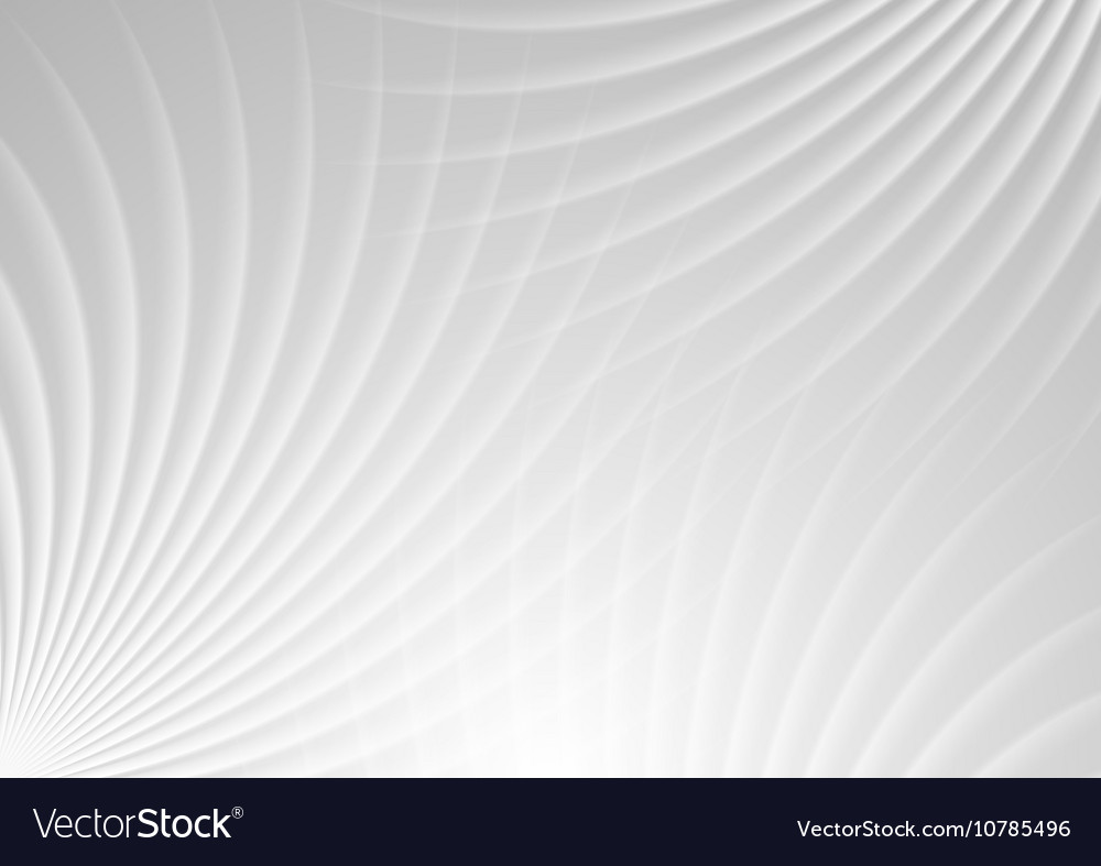 Abstract light grey swirl background vector image