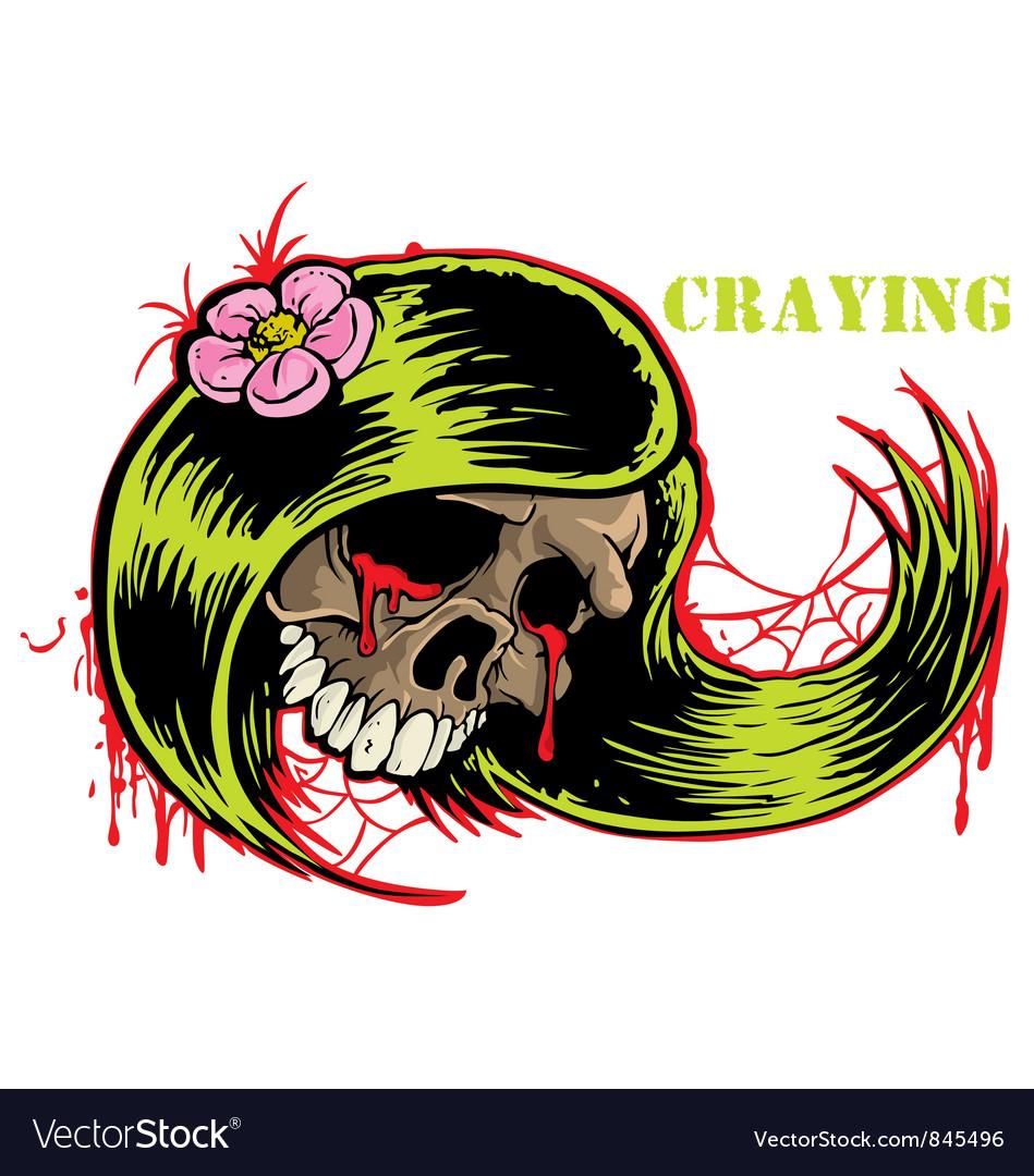 Crying skull vector image