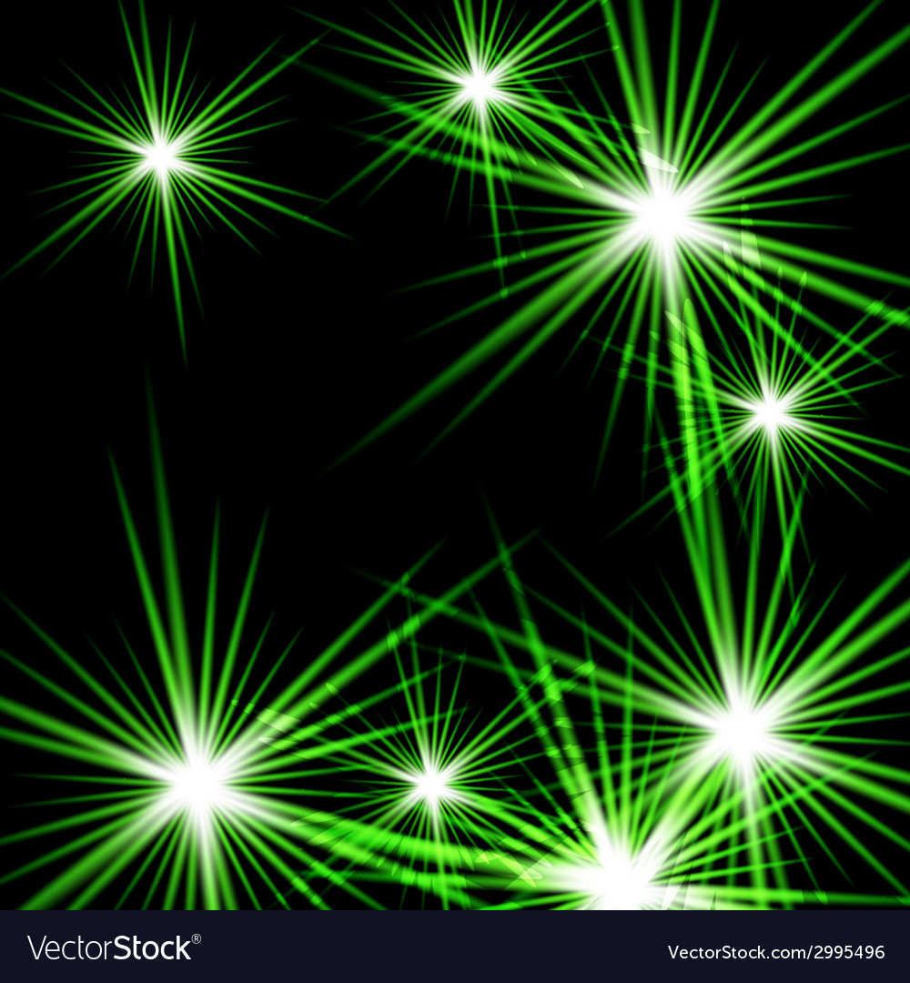 Green shining cosmic light vector image