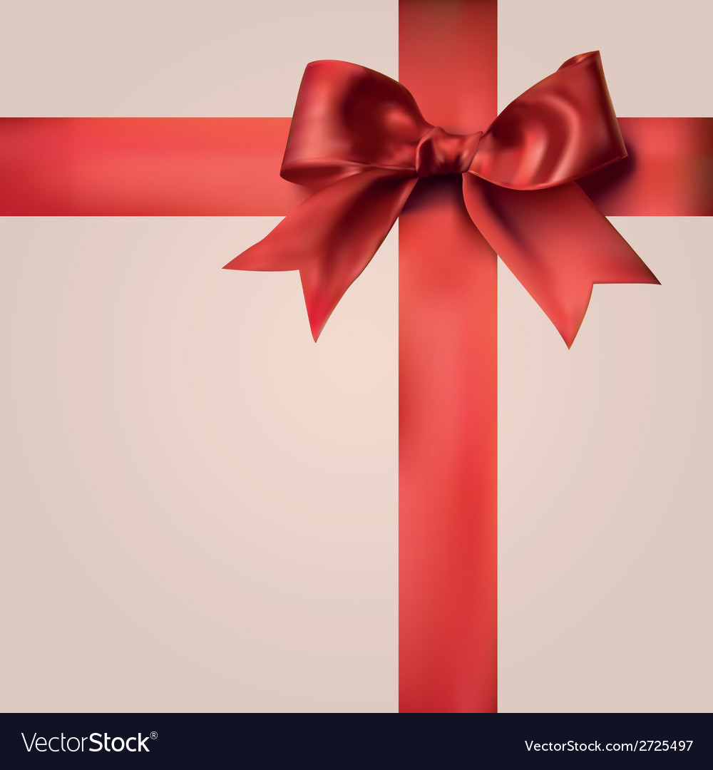 Red gift ribbons with bow royalty free vector image red gift ribbons with bow vector image negle Gallery