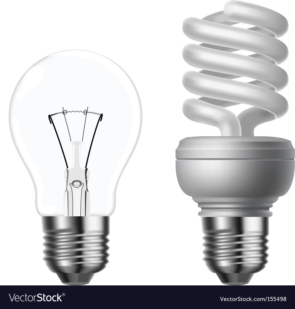 Tungsten and energy saving vector image