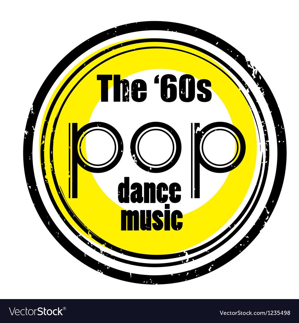 Pop dance music vector image