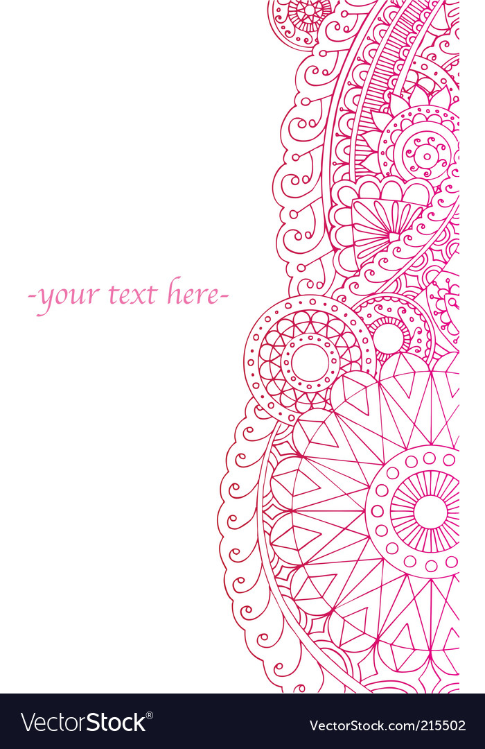 Henna ink border vector image