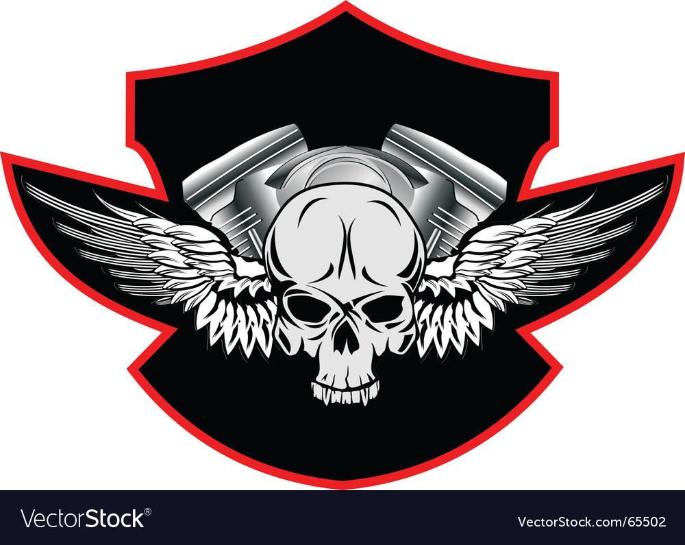 Motor skull vector image