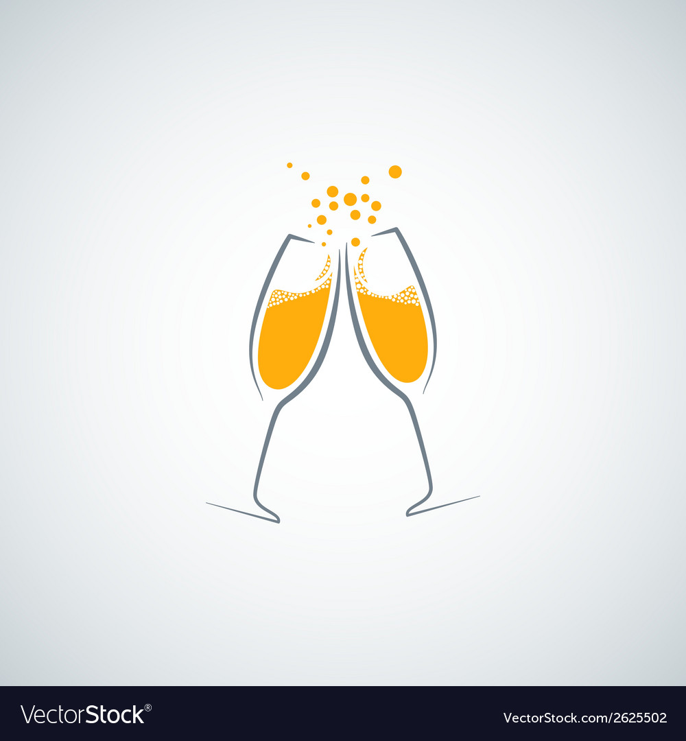 Champagne glass background vector image