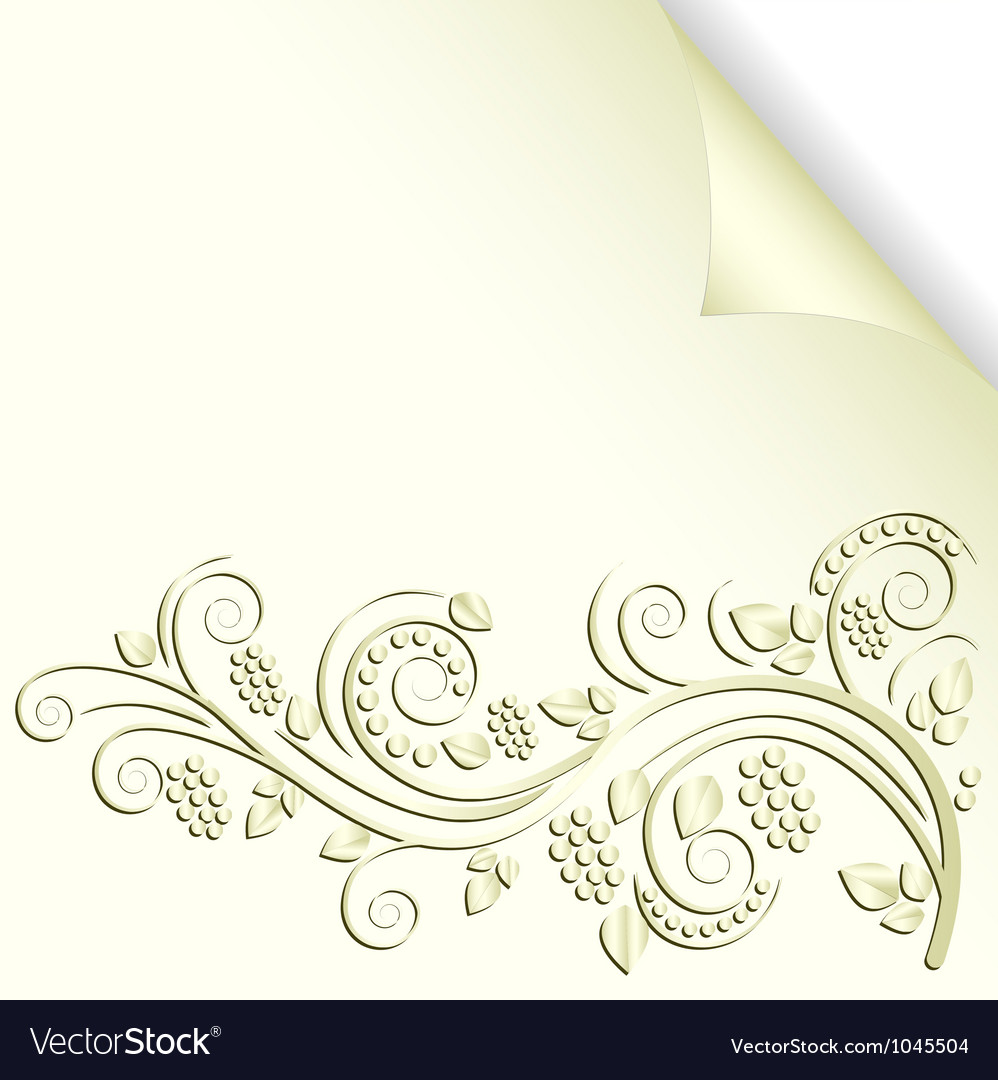 Cream background vector image