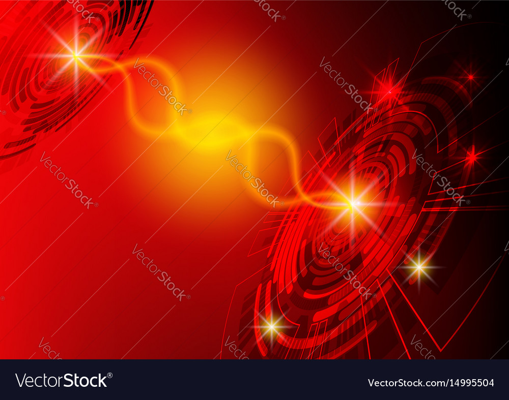 Red circle technology background abstract digital vector image