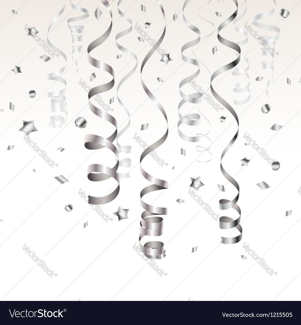 Silver Streamer vector image