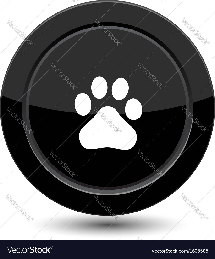 Button with trail foot vector image