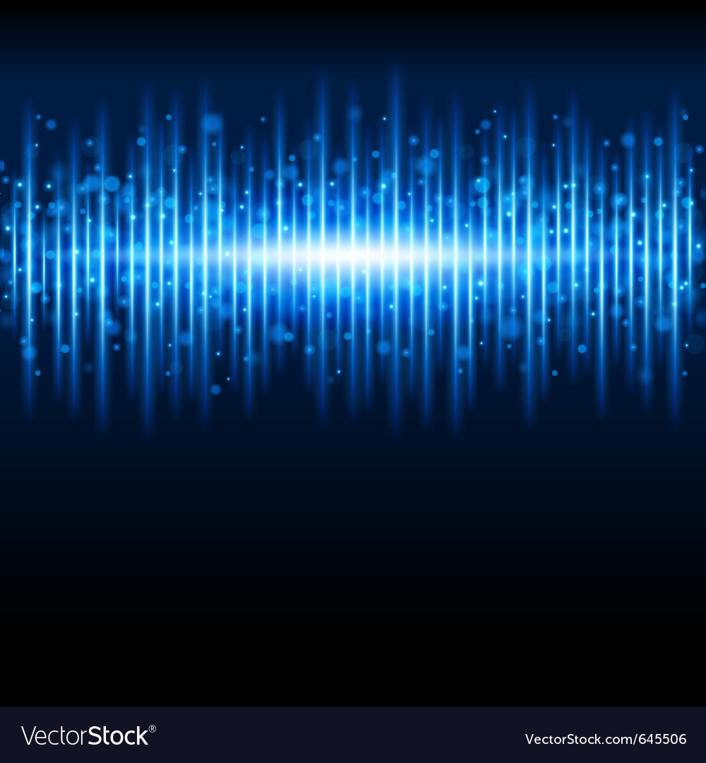 Abstract blue waveform vector image