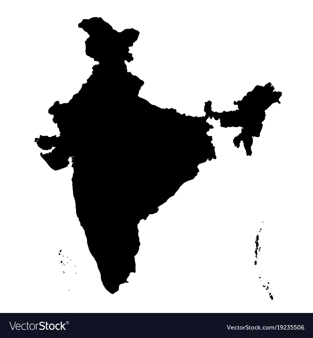 Detailed flat black map of india asia royalty free vector detailed flat black map of india asia vector image gumiabroncs Choice Image