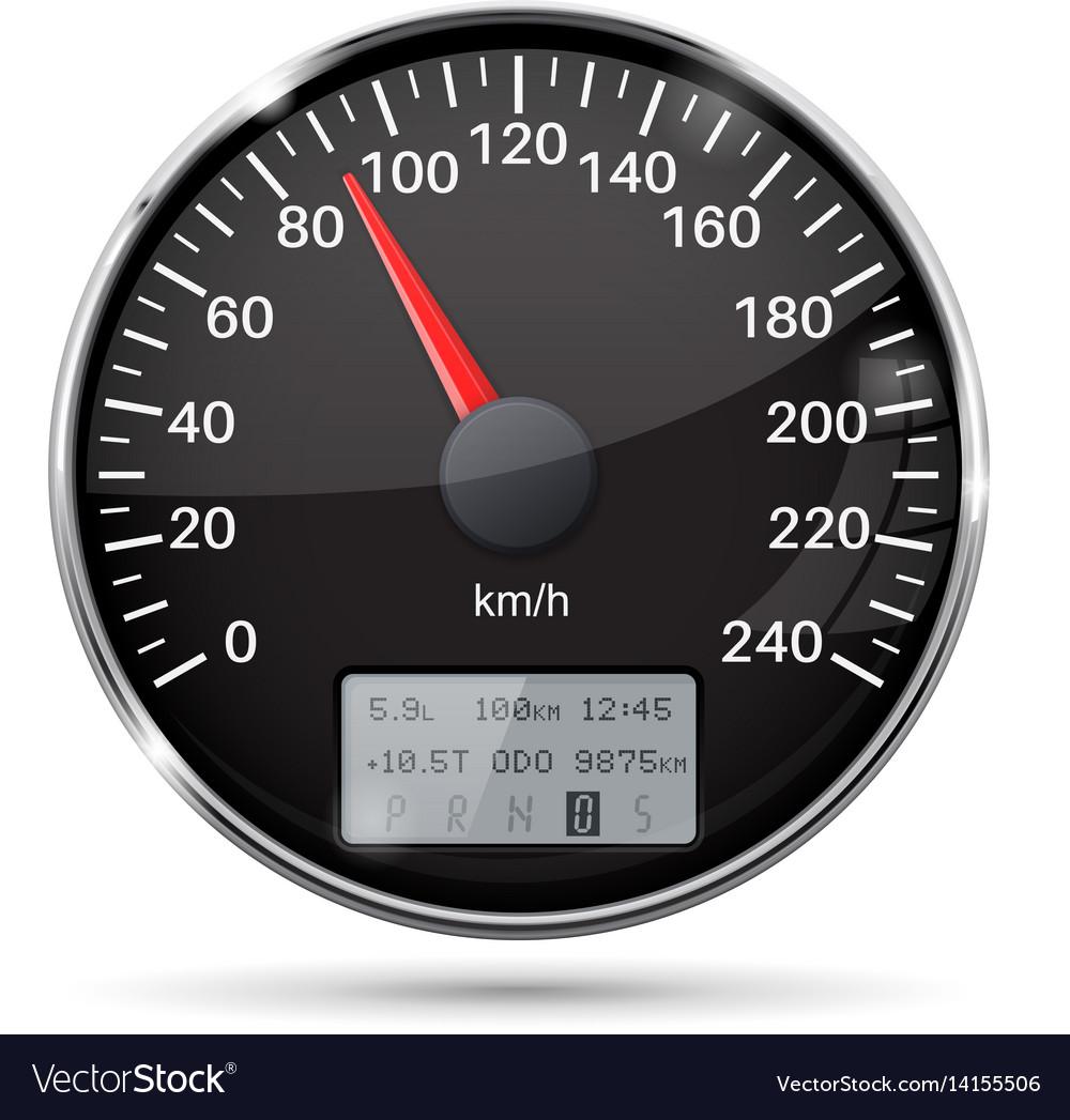 Speedometer 90 km per hour vector image