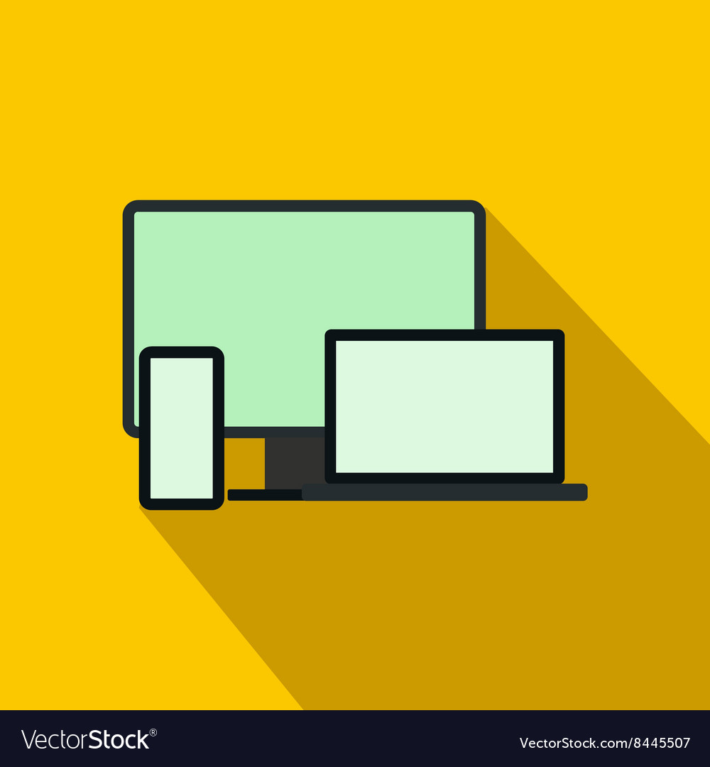 Computer monitorlaptop and phone icon vector image
