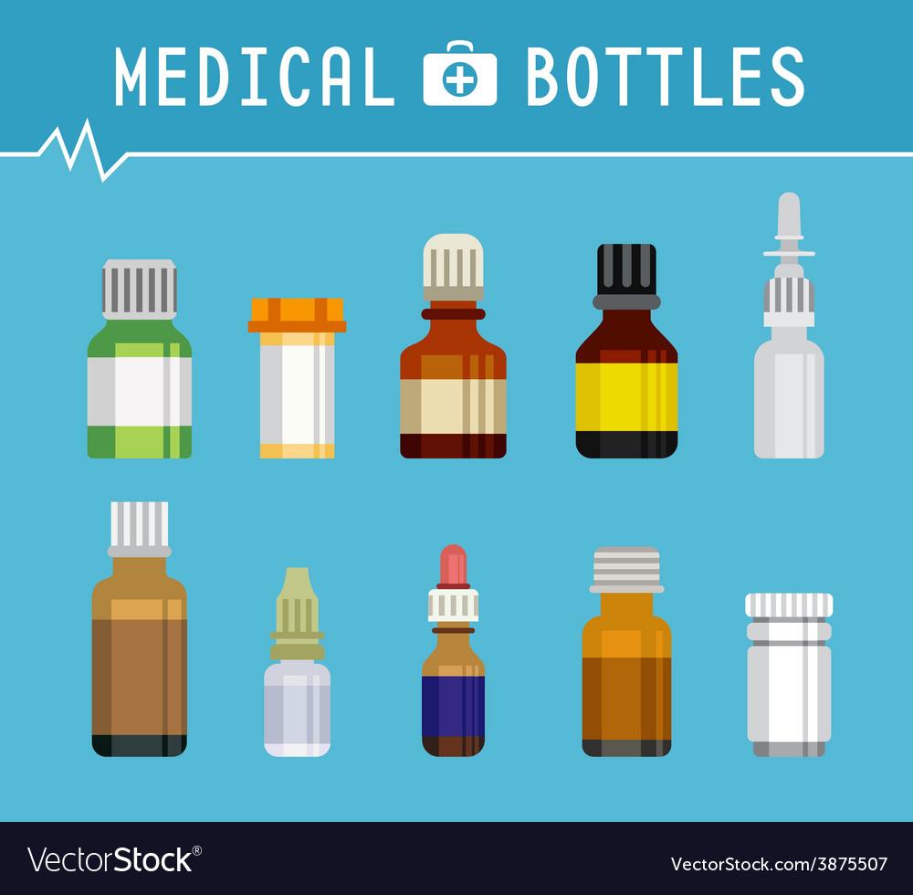 Cool Various Medication Bottles for Medical vector image