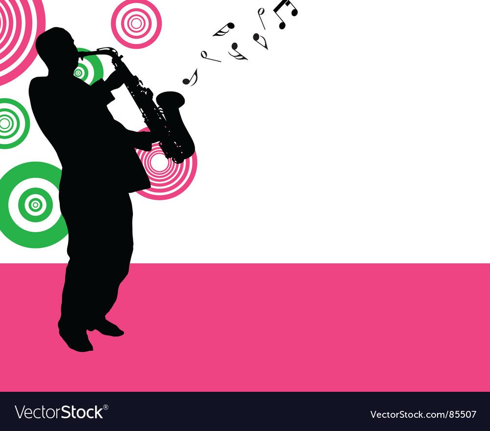 Saxophonist vector image