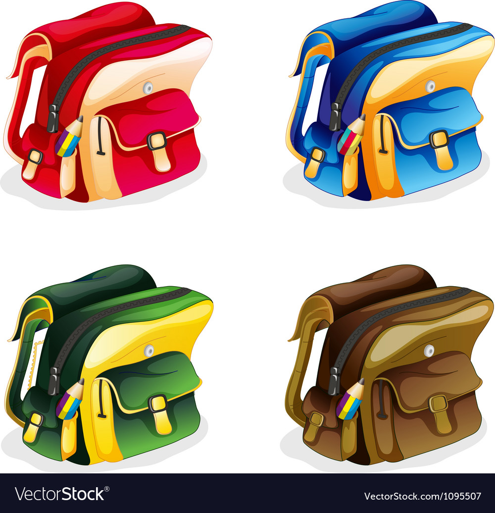 School bags vector image