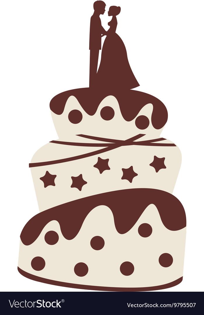 Wedding cake isolated icon design vector image