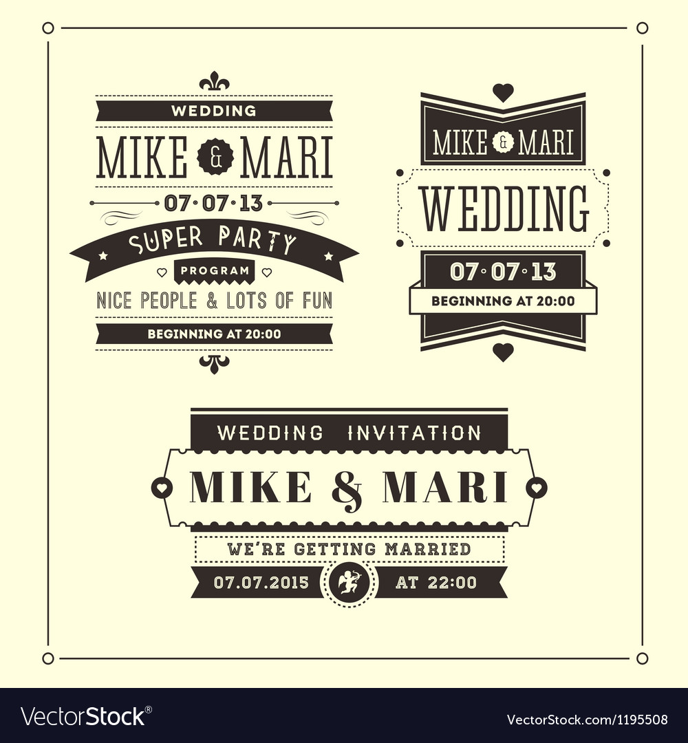 Retro Weddings vector image