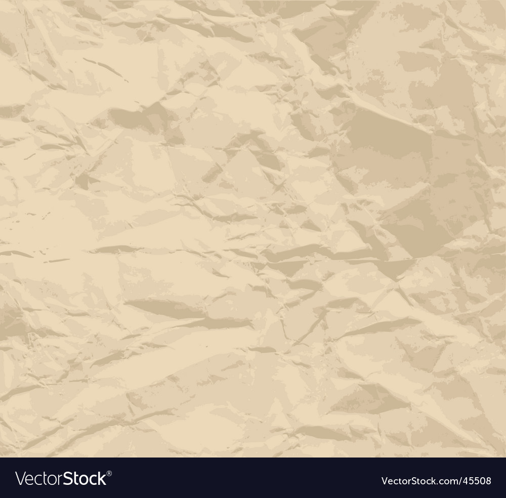 Crinkled paper texture vector image