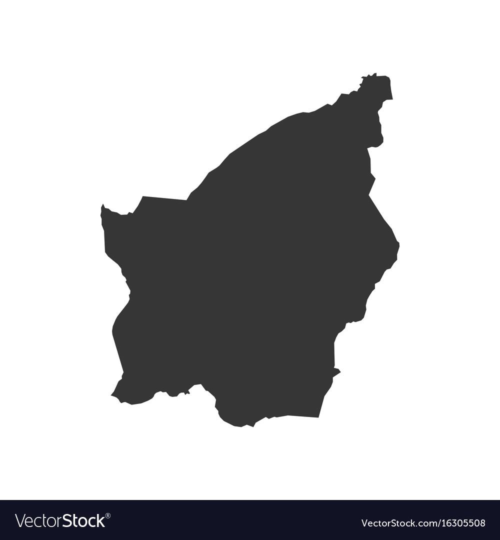 San marino map outline vector image