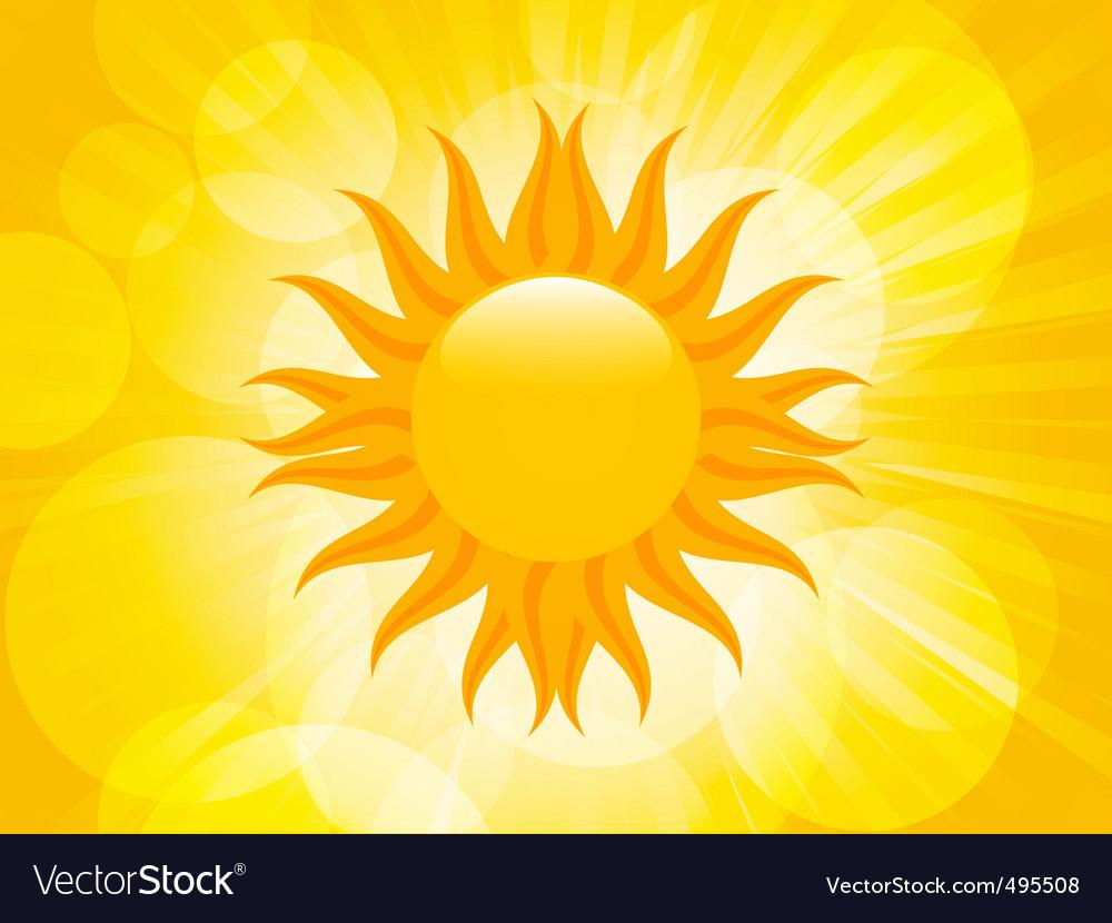 Summer sunset sun vector image