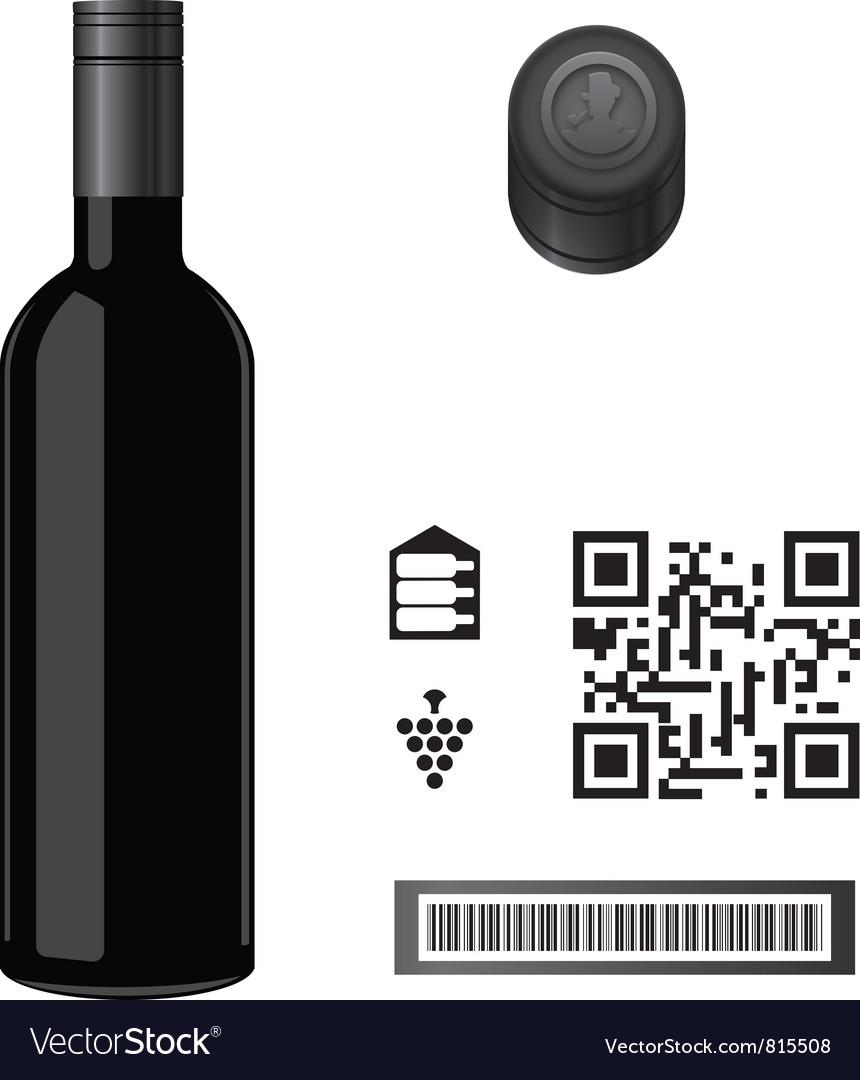 Wine Bottle Template vector image