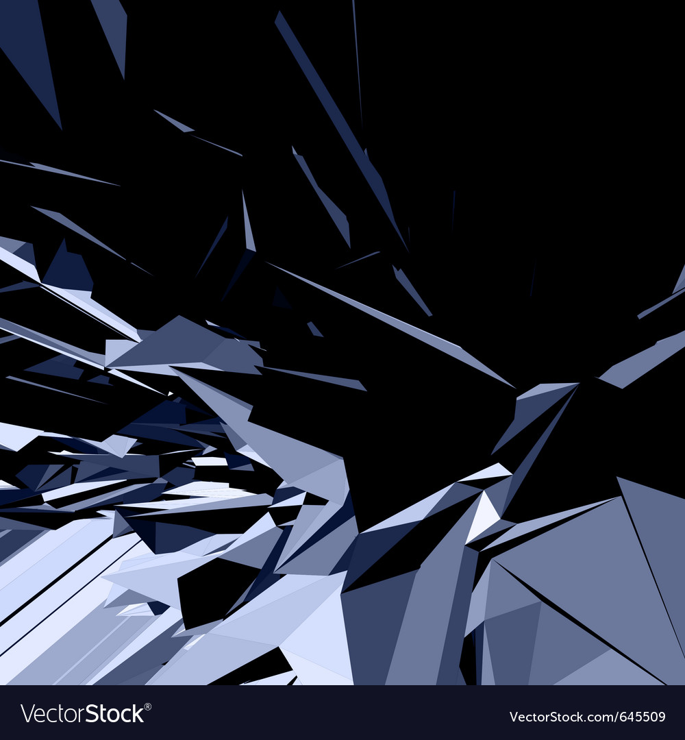 Abstract 3d geometric lines vector image