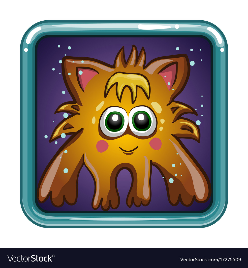 App icon with fantastic animal vector image