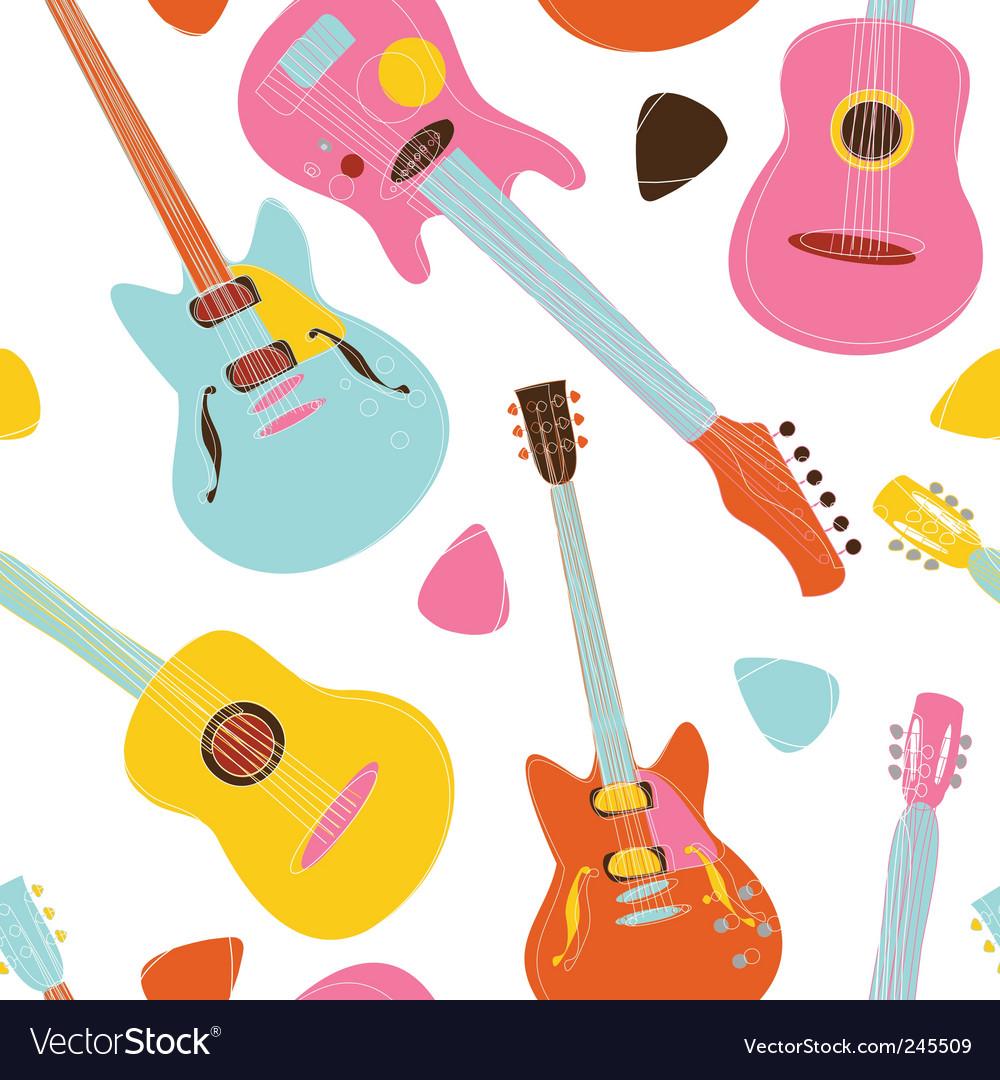 Guitar pattern vector image