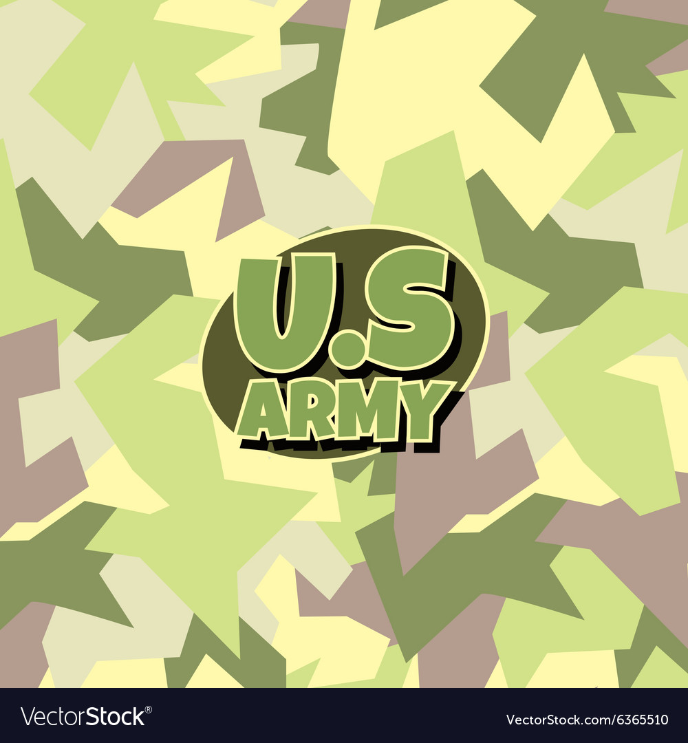 Army camouflage background vector image