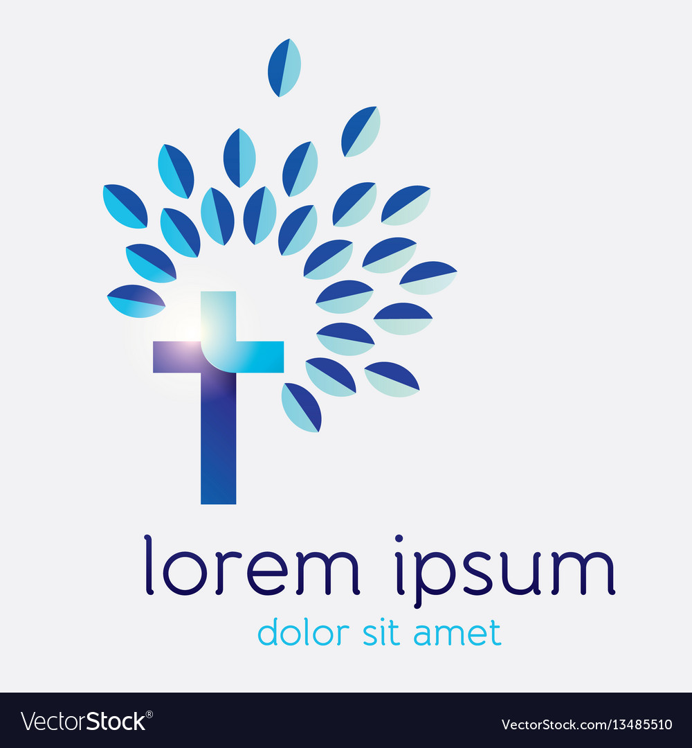 Cross tree icon design vector image