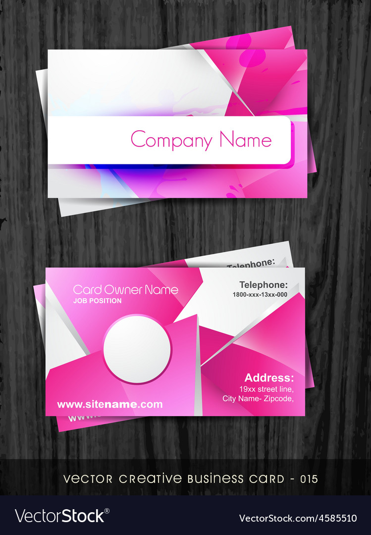 Funky business card Royalty Free Vector Image - VectorStock