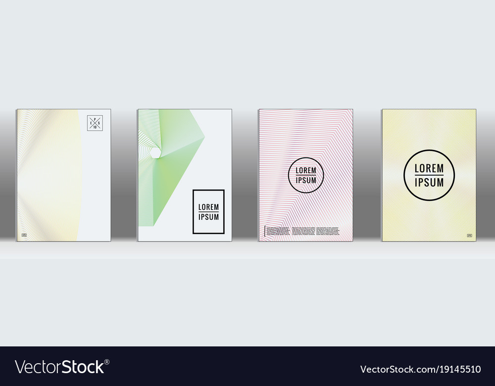Minimal geometric annual report templates Vector Image