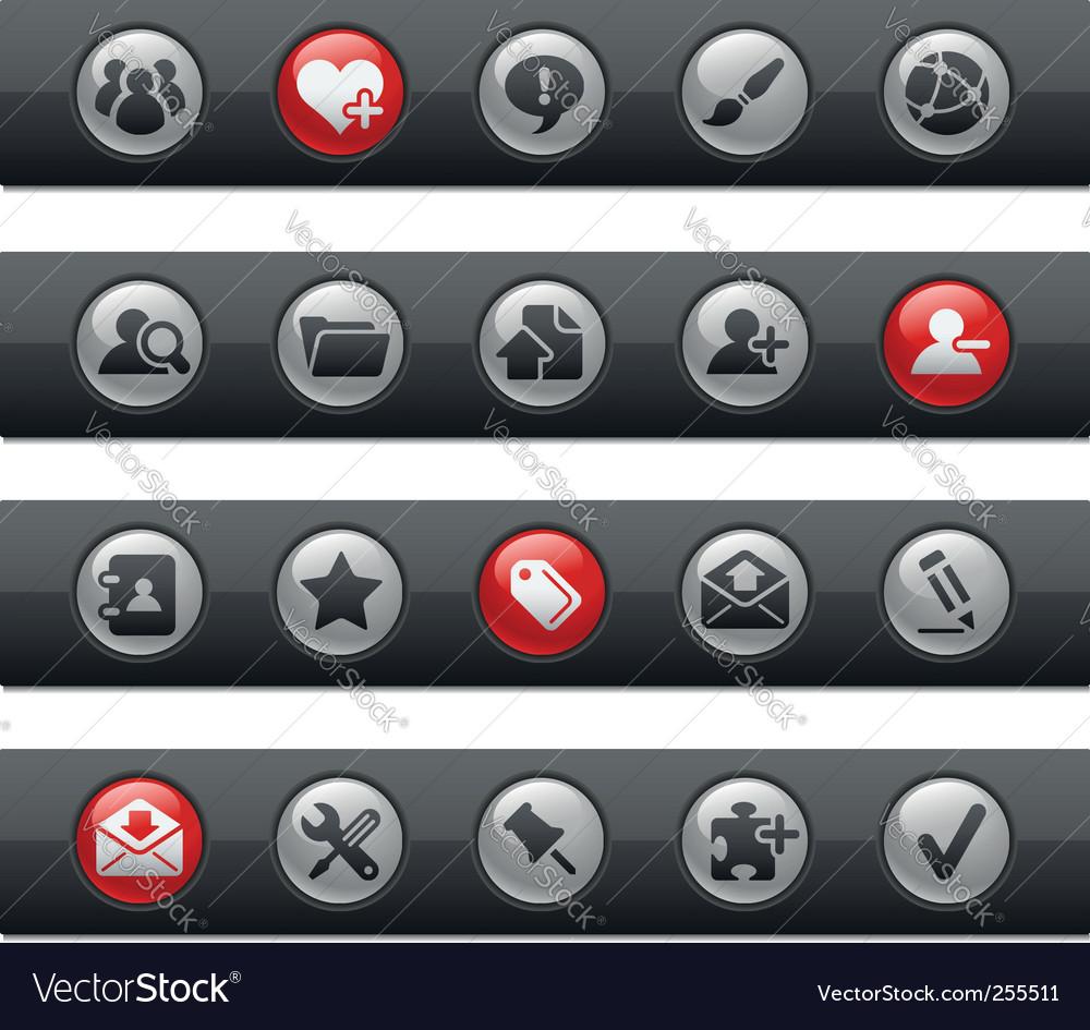 Internet and blog bars vector image