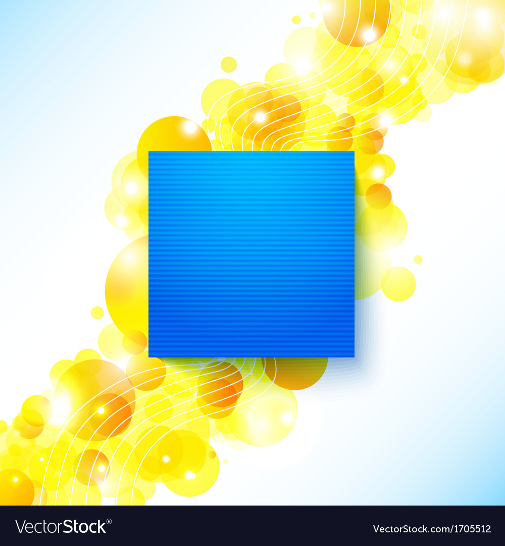 Bright blue summer poster on a shiny cheerful vector image