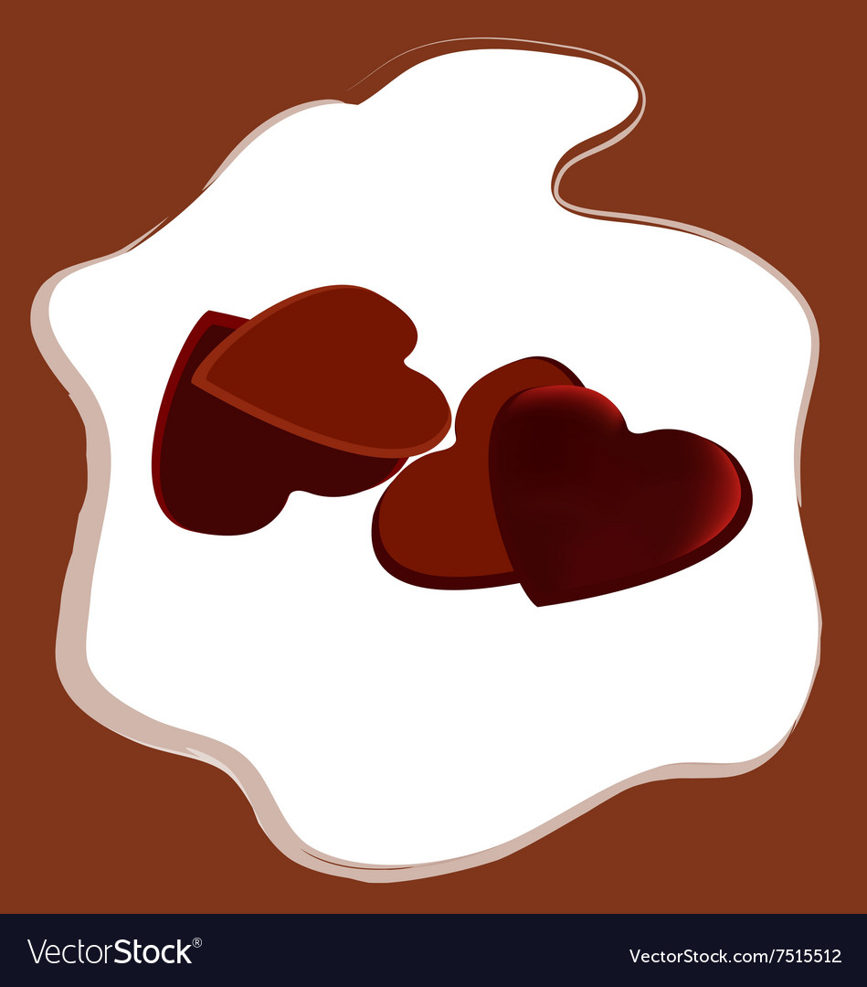 Valentines Day heart shaped chocolate vector image