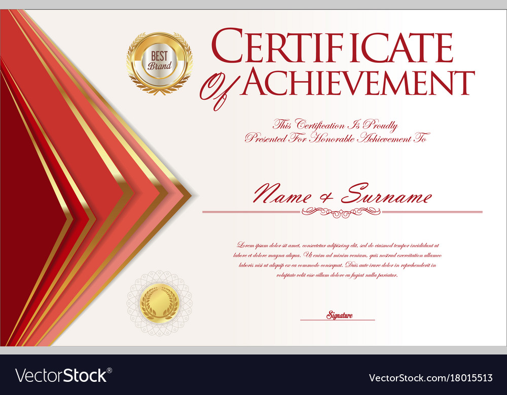 certificate or diploma design template vector image certificate or diploma design template 3 vector image